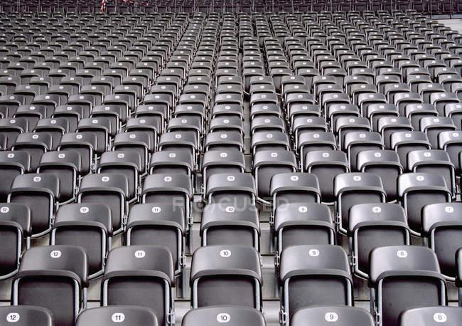 Full frame shot of stadium seats — Stock Photo