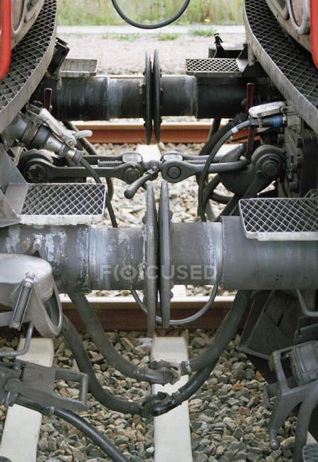 Equipamento de ligação entre duas carruagens — Fotografia de Stock