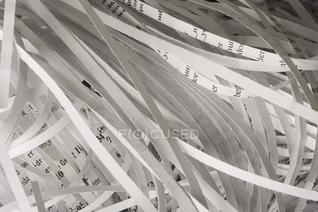 Full frame shot of shredded paper — Stock Photo