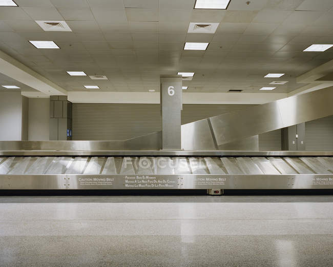 Empty baggage claim at airport hall — Stock Photo