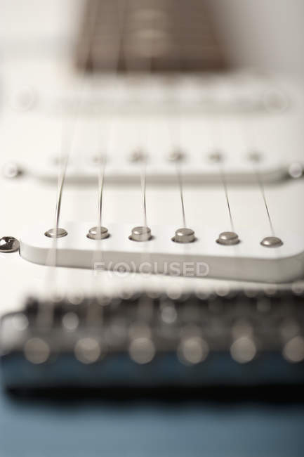 String vibrations on electric guitar — Stock Photo