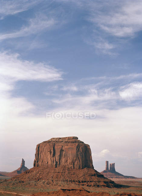 Scenic landscape of rock formations in desert — Stock Photo