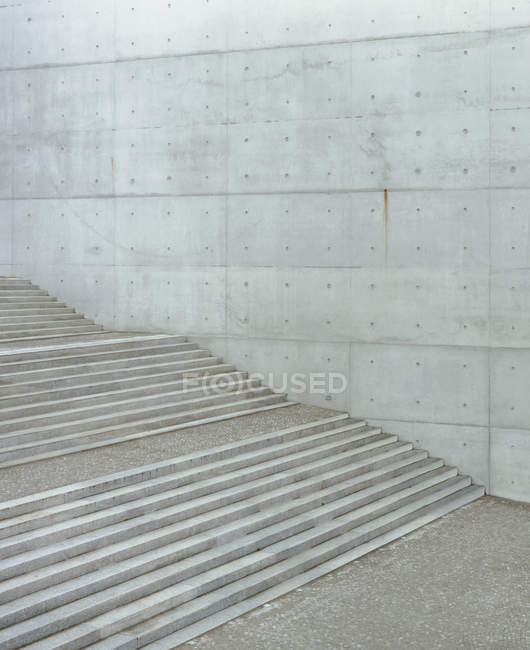 Empty concrete steps and wall — Stock Photo