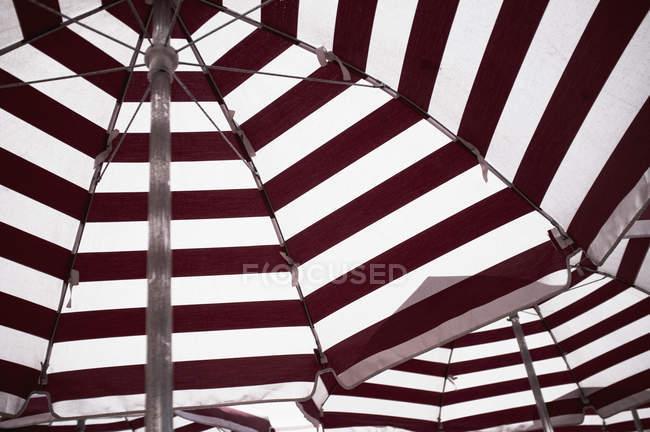 Full frame shot of striped umbrellas — Stock Photo
