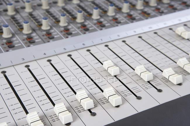 Full frame shot of sound mixer — Stock Photo
