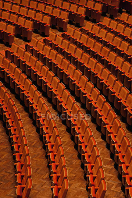 Full frame shot of empty seats in theater — Stock Photo