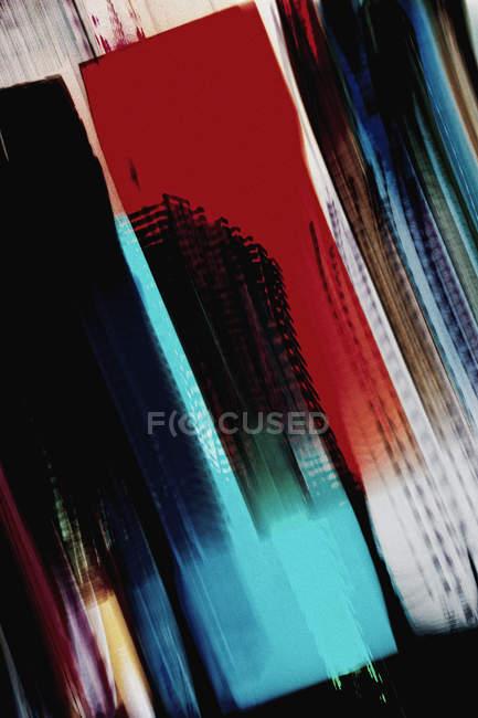 Verschwommene Bewegung von Neonlichtern — Stockfoto