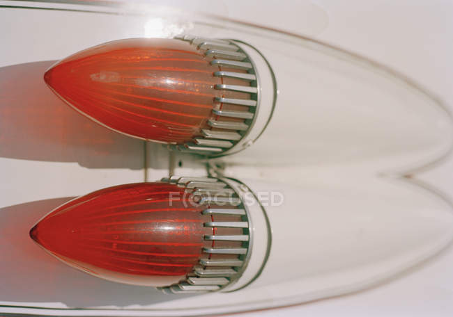 Close up view of rear lights of vintage American car — стоковое фото