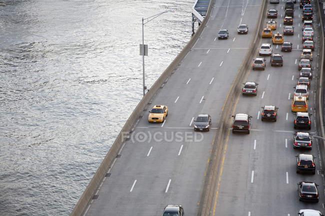 FDR Drive ao lado do East River em Nova York — Fotografia de Stock