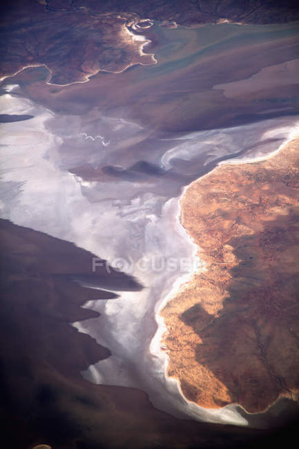 Aerial view of coastal landscape — Stock Photo