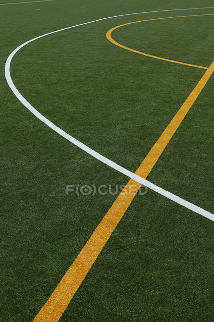 High angle view of lines on sports court — Stock Photo