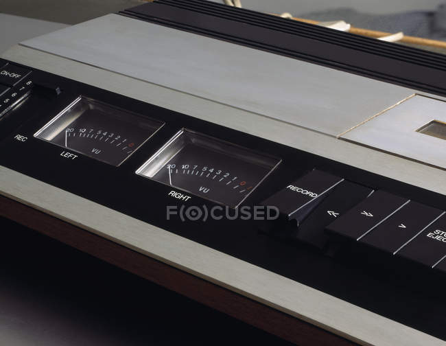 Cropped image of old tape recorder — Stock Photo