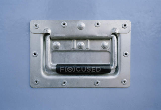 Close up view of metal handle — Stock Photo