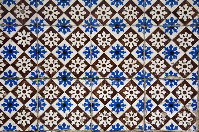 Moldura completa tiro azulejos da parede modelados , — Fotografia de Stock