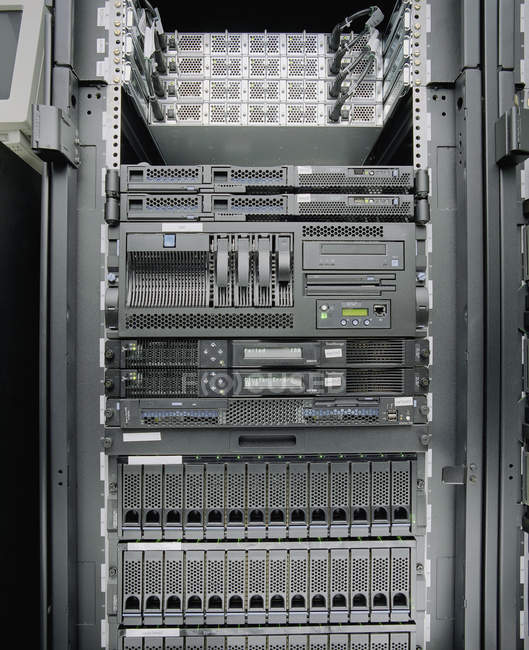 Full frame shot of network server rack — Stock Photo