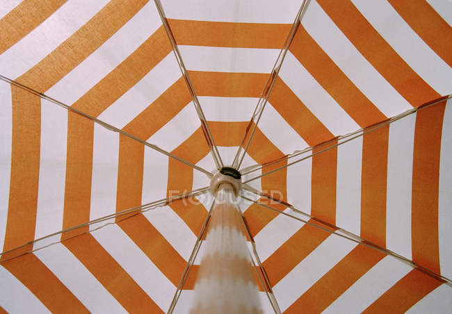 Low angle view of a beach umbrella — Stock Photo