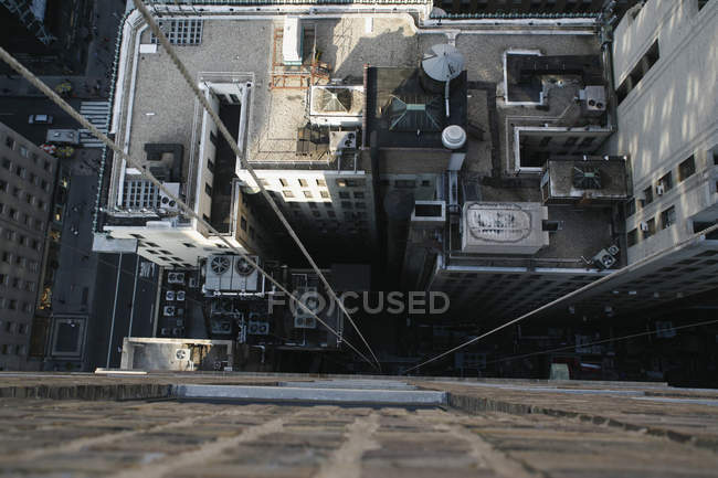 High angle view of rooftops seen from skyscraper — Stock Photo