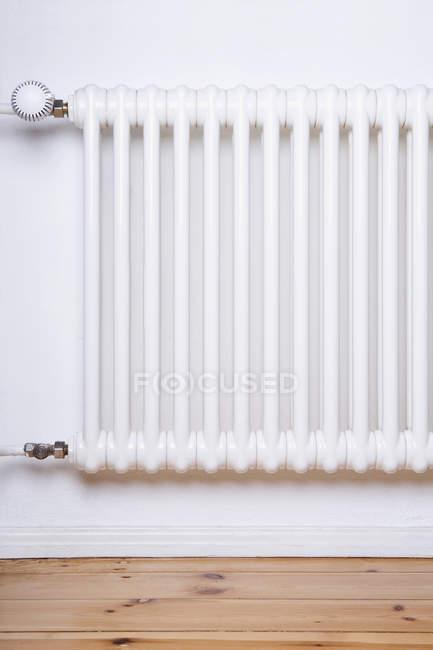 Close up view of apartment radiator — Stock Photo
