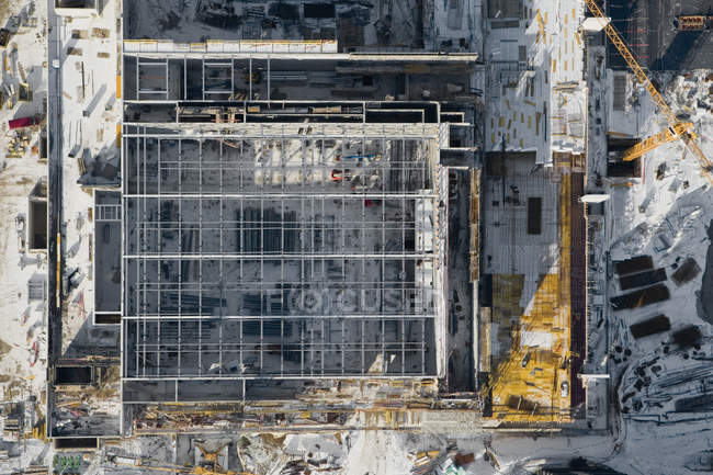 Aerial view of industrial construction site — Stock Photo