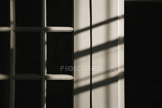 Close up view of shadow of window frame — Stock Photo