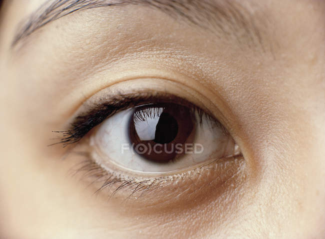 Close up view of woman's eye — Stock Photo