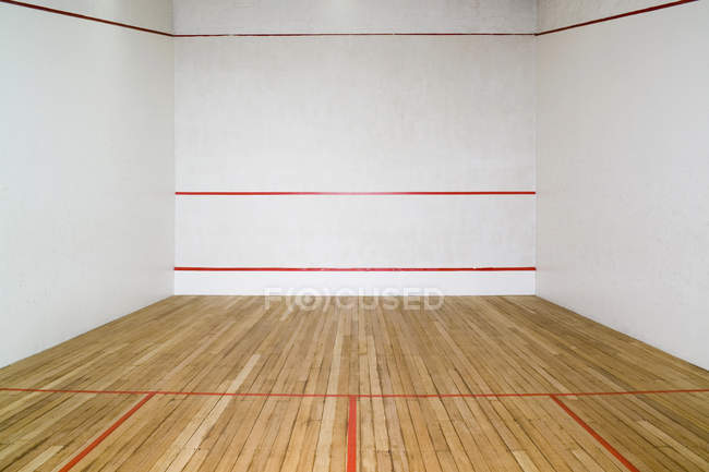 View to empty squash court — Stock Photo