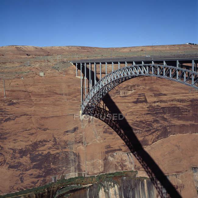 Ponte de barragem Glen Canyon, Arizona, sudoeste EUA — Fotografia de Stock