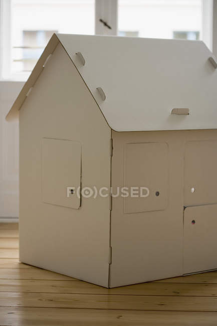 Close up view of cardboard house — Stock Photo
