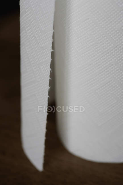 Extreme close up shot of toilet paper roll — Stock Photo