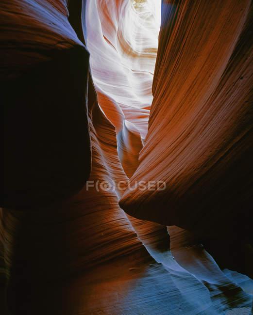 Tiro quadro completo de paredes de arenito de Antelope Canyon — Fotografia de Stock