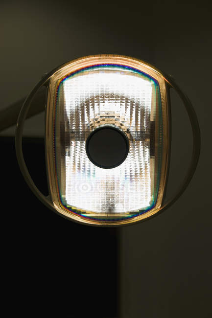 Close up view of light lamp in dental surgery clinic — Stock Photo