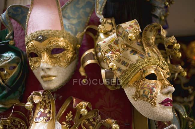 Divers masques de carnaval à Venise — Photo de stock
