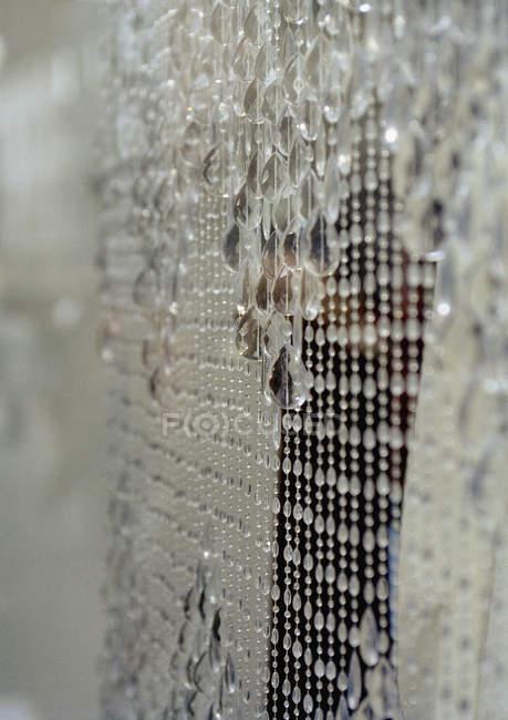 Nahaufnahme von Luxus Perlenvorhang — Stockfoto
