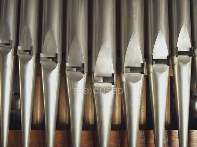 Full frame shot of pipe organ details — Stock Photo