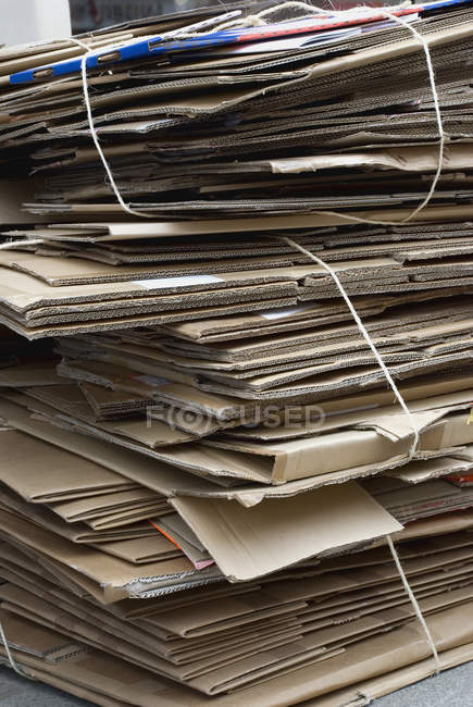 Close up view of stacked cardboard — Stock Photo