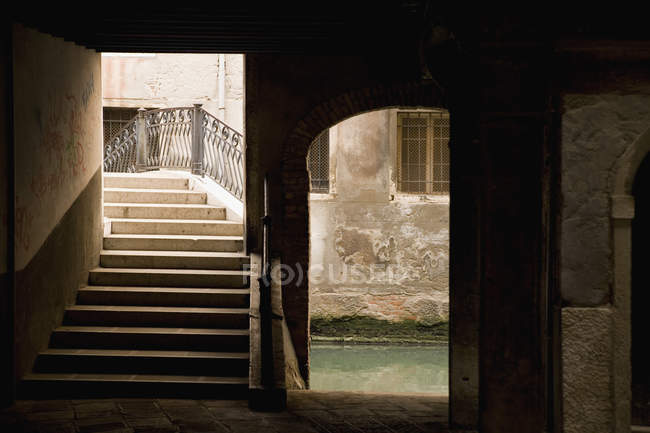 Architectural passages and arch way — Stock Photo