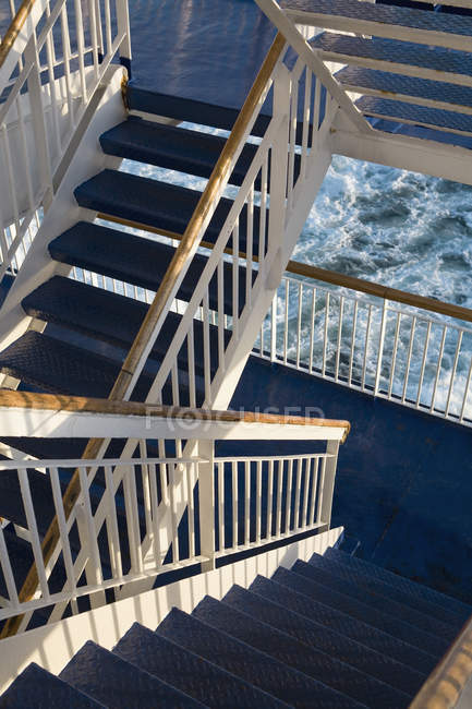 View to steps passage on ferry — Stock Photo