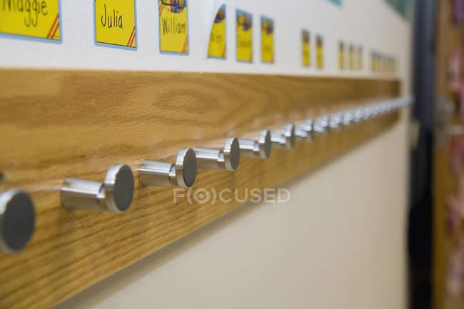 Cremalheira na escola primária — Fotografia de Stock