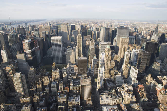 High angle view of downtown skyscrapers — Stock Photo