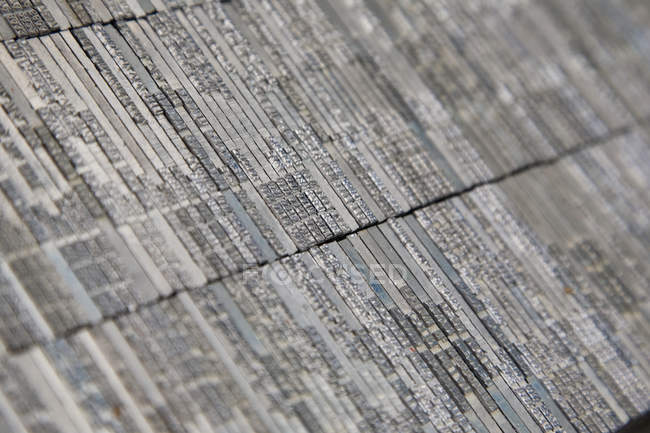 Close up tilt view of rows of tiles — Stock Photo