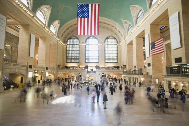 Hall de entrada da Estação Grand Central, Manhattan, Nova Iorque — Fotografia de Stock