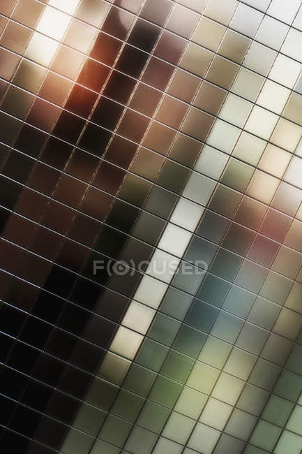 Close up view of mirrored tiles — Stock Photo