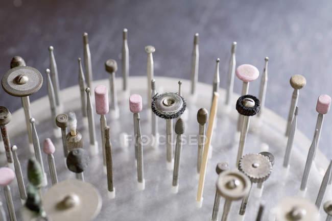 Высокий угол зрения ювелирных изделий Инструменты — стоковое фото