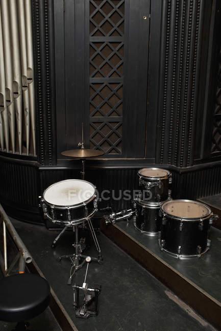 Empilhadas as peças do kit de tambor separado — Fotografia de Stock
