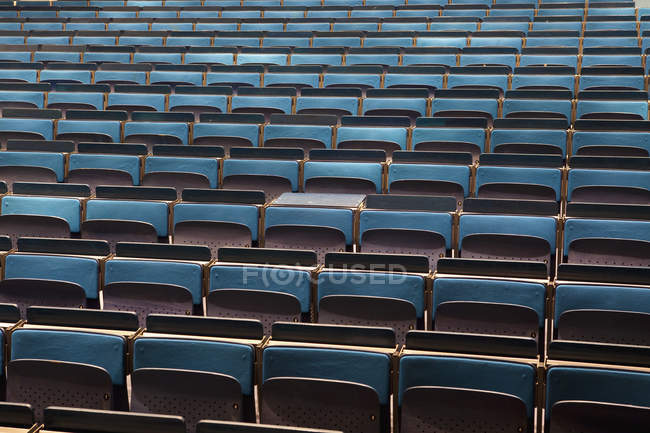 Full frame shot of empty auditorium seats — Stock Photo
