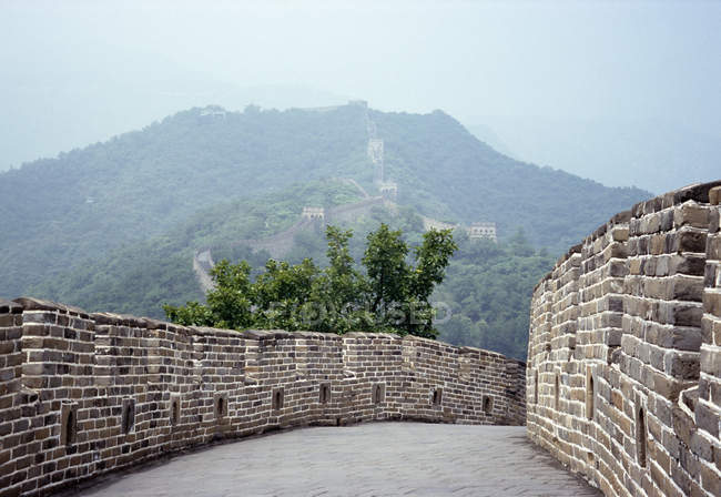 View to passage on Great Wall of China — Stock Photo