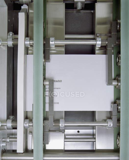 Atirou em quadro completo da máquina de impressão — Fotografia de Stock