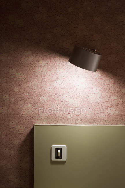 Cropped image old fashioned bedroom decor — Stock Photo