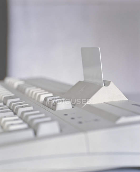 Close up view of keyboard and card reader — Stock Photo