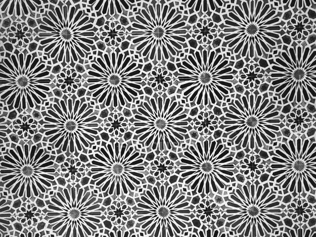 Full frame view of patterned tiled floor — Stock Photo